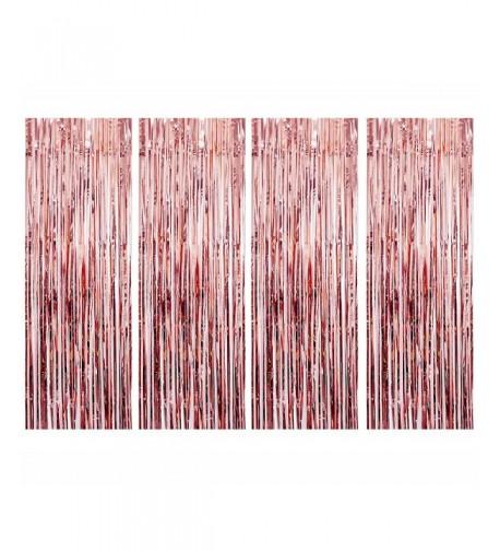 UTOPP Curtains Backdrop Metallic Decorations