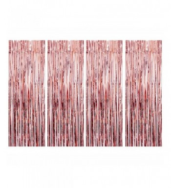 UTOPP Curtains Backdrop Metallic Decorations