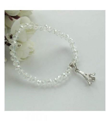 Eiffel Themed Crystal Bracelet Favors