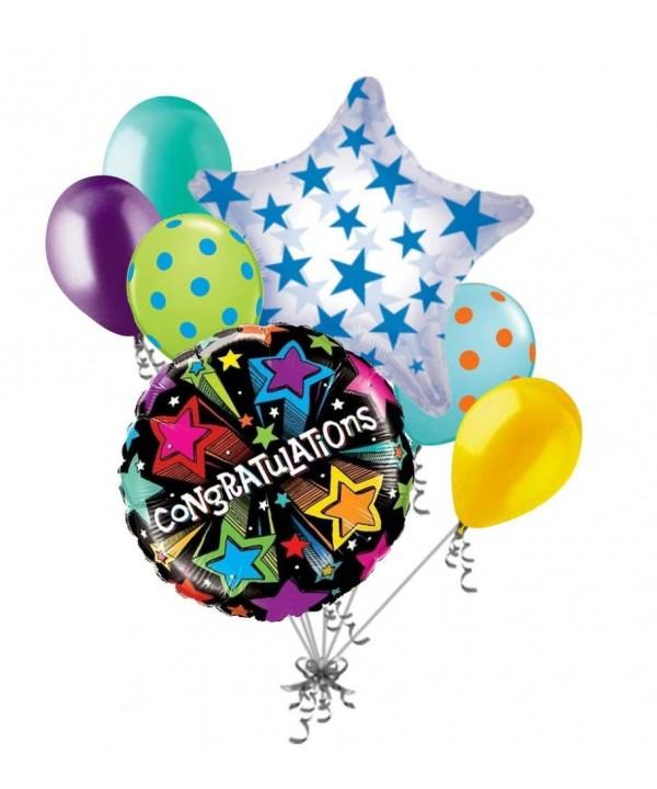 Congratulations Starburst Colorful Balloon Graduation
