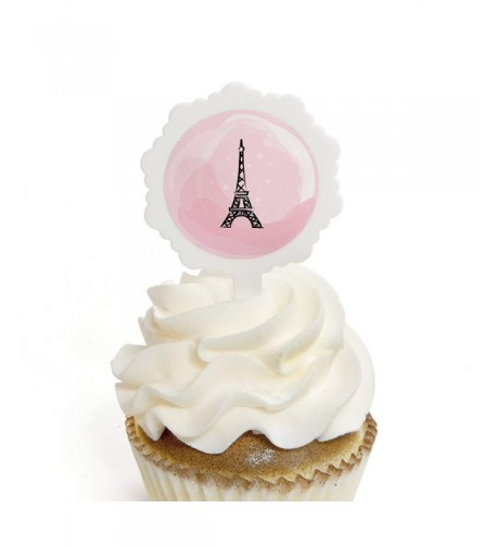 Paris Ooh Cupcake Stickers Birthday