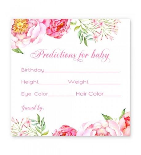 Floral Shower Prediction Cards Girls