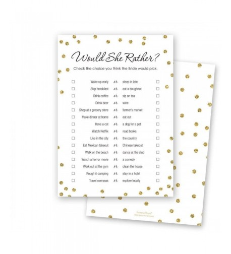 Would Rather Bridal Shower White