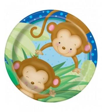 Monkey Baby Shower Dessert Plates