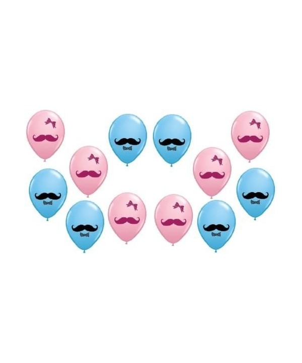 LoonBalloon Mustache Gender Reveal BALLOONS