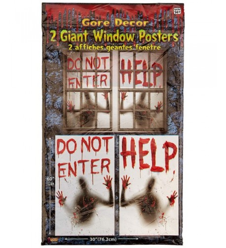 Bloody Window Posters Halloween Decoration