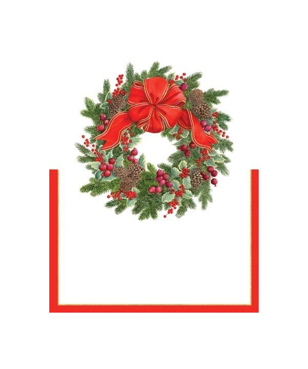 Christmas Placecards Dinner Decorations Evergreen