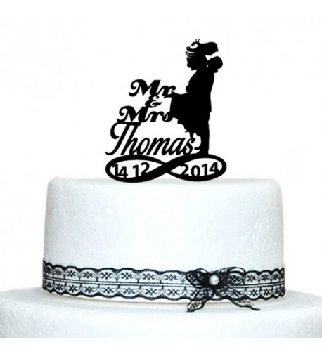 Buythrow Silhouette Wedding Topper Infinity