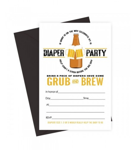Mans Shower Invitations Diapers Party