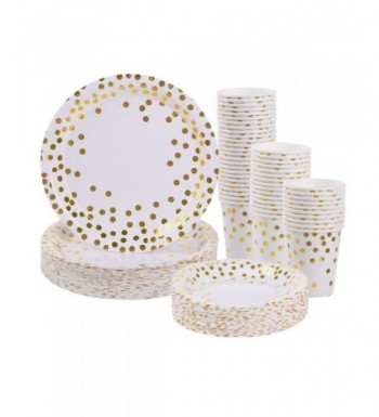 Gold Disposable Paper Plates Cups