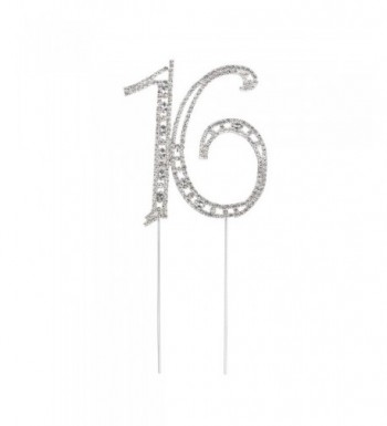 Pixnor Rhinestone Sixteen Birthday Decoration