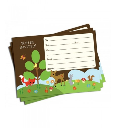 Trendy Woodland Friends Invitations Envelopes