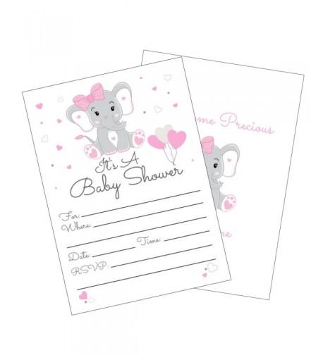 Elephant Shower Invitations Envelopes Invites