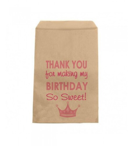 Pink Princess Birthday Candy Bags
