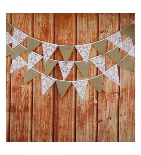 Burlap Triangle Banner Decoration Wedding
