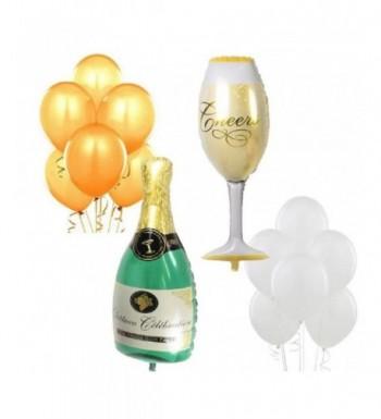 Wine Glass Champagne Balloons Anniversary