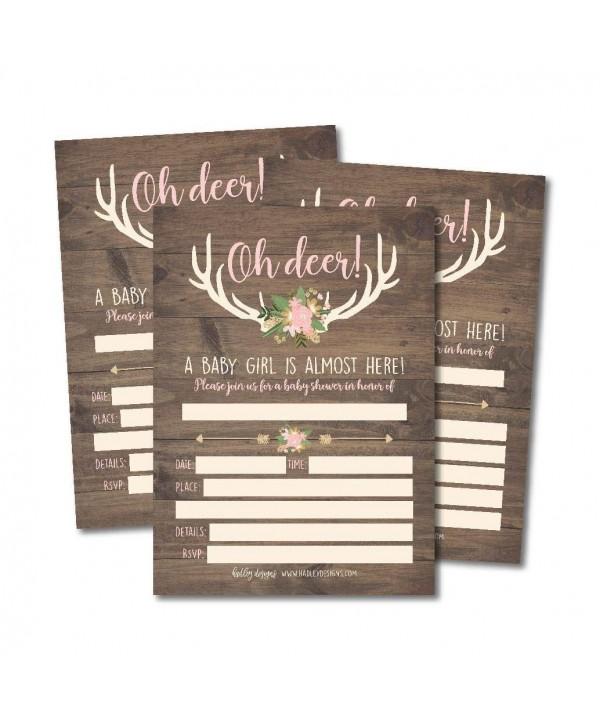 Invitations Sprinkle Woodland Printable Supplies
