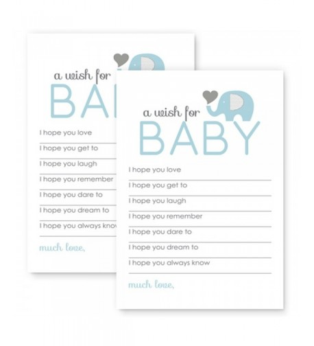 Elephant Baby Shower Wishes Classic