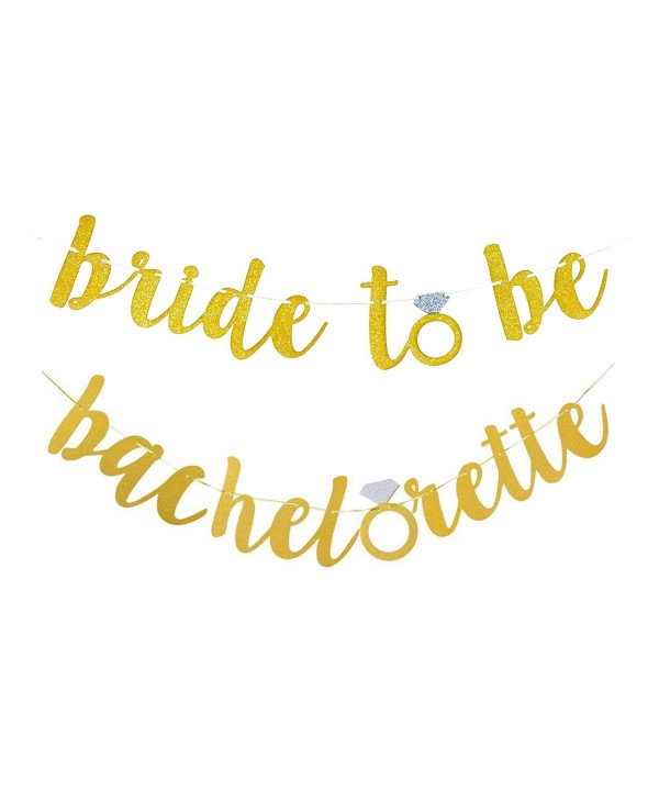 Glitter Alphabet Bachelorette Engagement Decoration