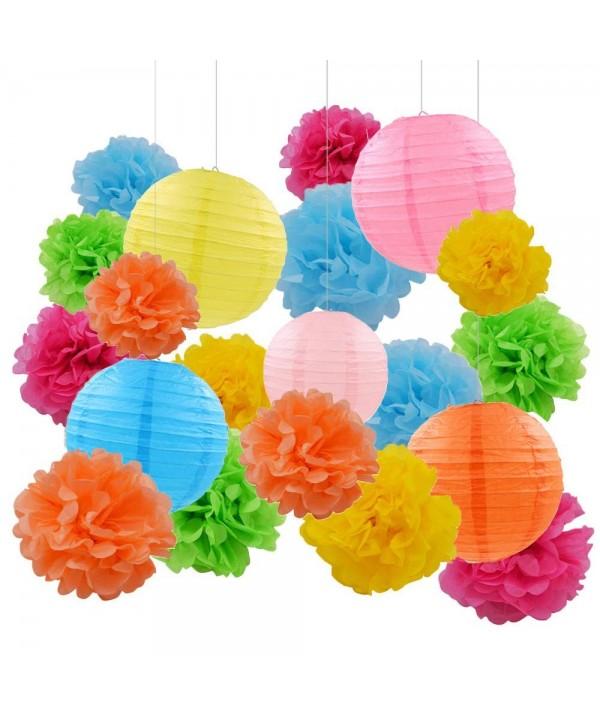 Assorted Rainbow Lanterns Graduation Decorations
