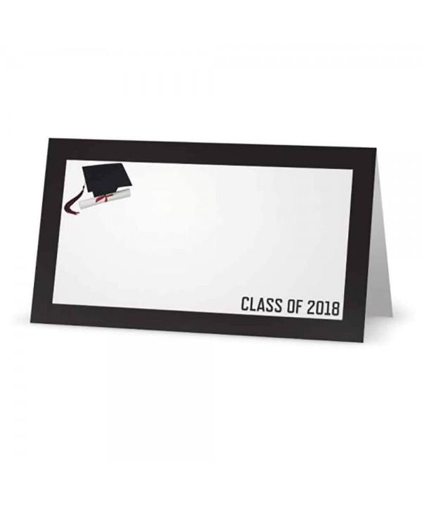 Graduation Class Black Place Cards