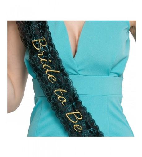 Embroidered Lace Bride Bachelorette Sash