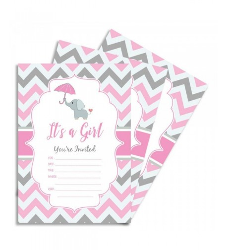 Party Invitations Double Shower Envelope