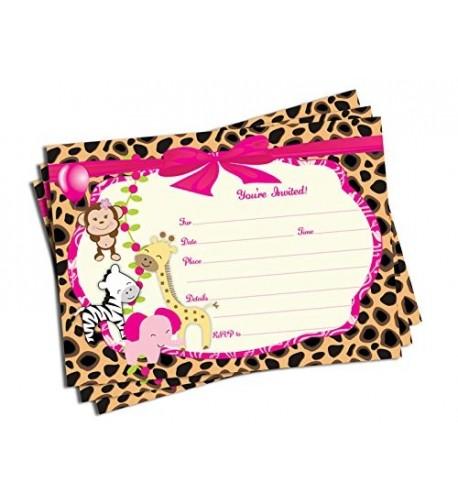 Girl Jungle Invitations Envelopes Large
