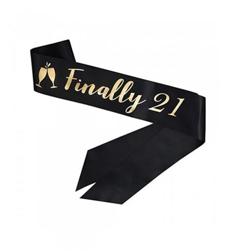 Finally Black Birthday Sash Decorations