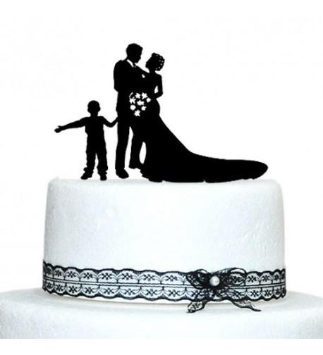 Buythrow Family Silhouette Wedding Topper