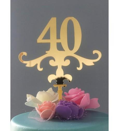 ShinyBeauty Cake Topper Birthday 40th Birthday Cake Topper
