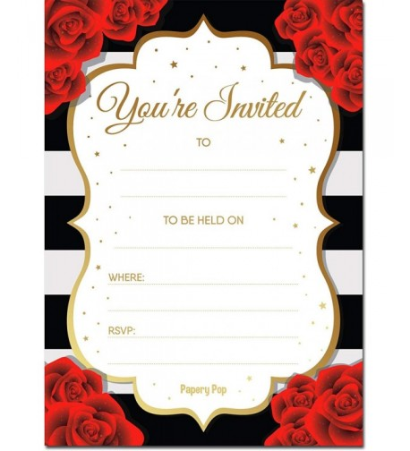 Papery Pop Invitations Envelopes Count