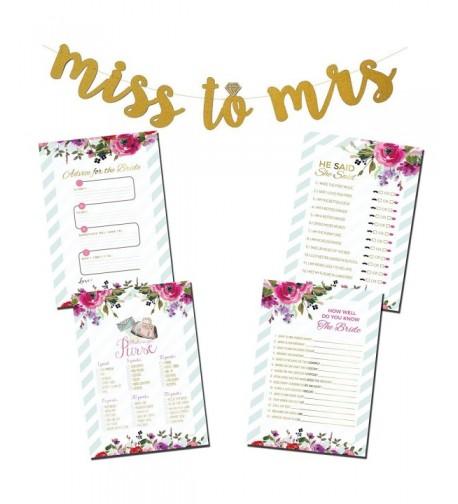 Bridal Shower Bundle Glitter Banner