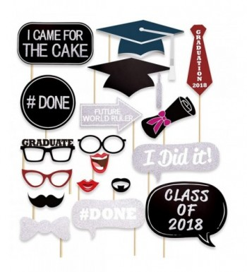 Glitter Graduation Photo Booth Props
