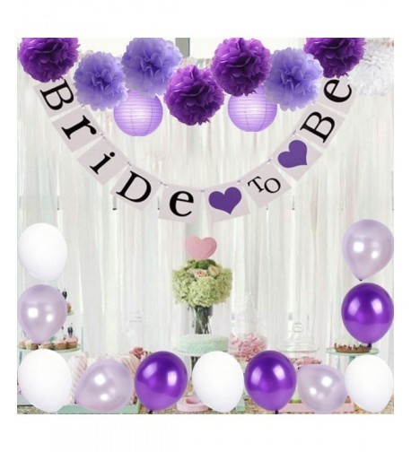 Decorations Lavender Balloons Wedding Bachelorette