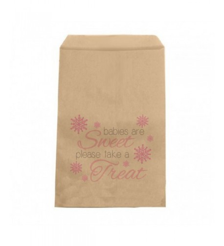 Pink Snowflake Candy Bags Winter