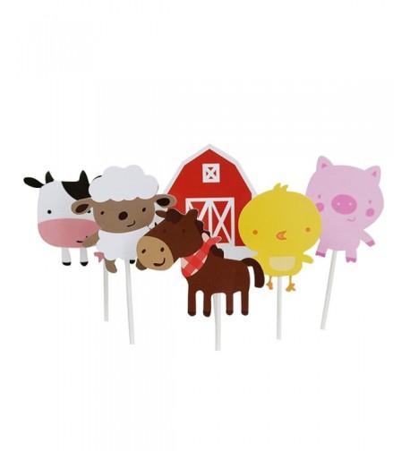 Wolpark Animal Cupcake Decoration Birthday