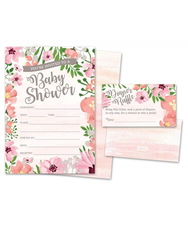Shower Invitations Diaper Tickets Envelopes