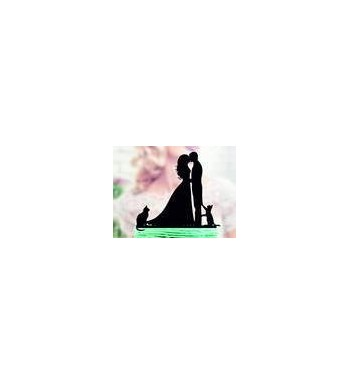 Wedding Topper Silhouette Acrylic Toppers