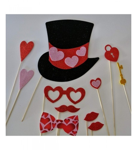 Photo Booth Mustache Valentines Hearts
