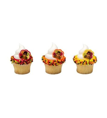 Harvest Thanksgiving Cupcake Topper Rings
