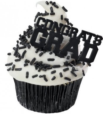 Congrats BLACK Cupcake Topper Picks