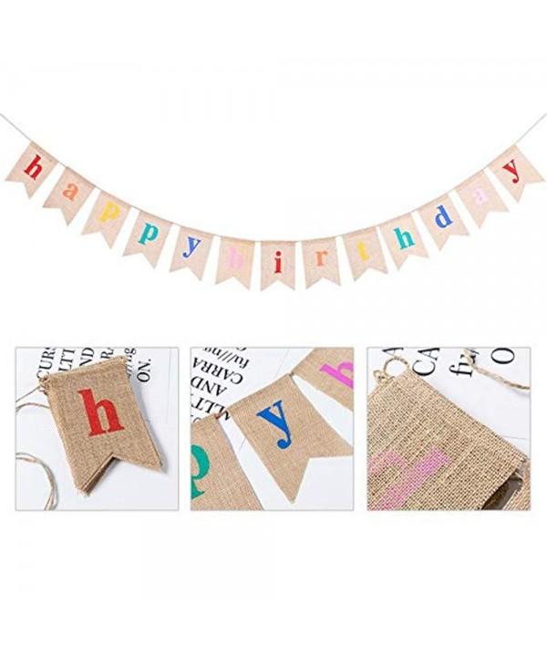 Birthday Decorations Supplies Colorful Alphabet