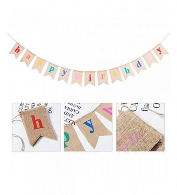 Birthday Decorations Supplies Colorful Alphabet