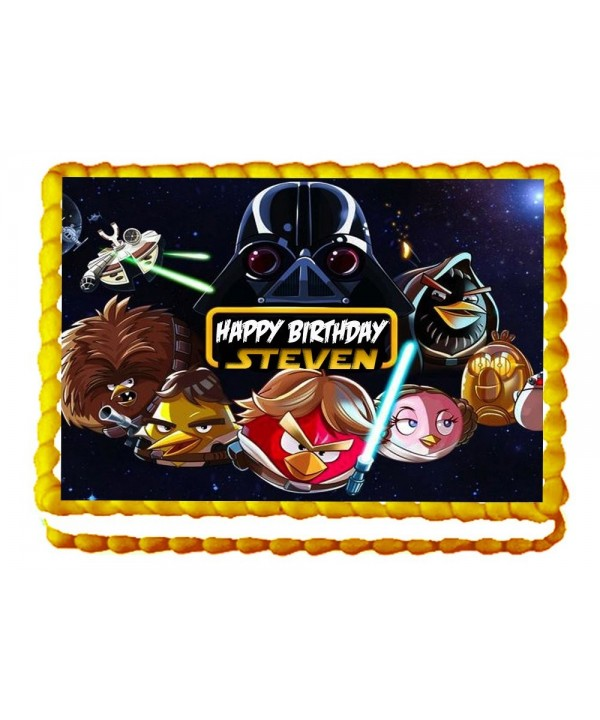 Angry Edible Birthday Topper Personalized