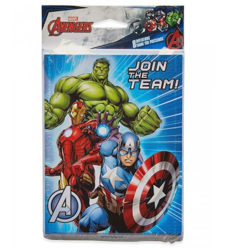 American Greetings Avengers Invite Thank