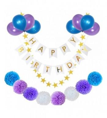 yotruth Purple Birthday Decorations Balloons