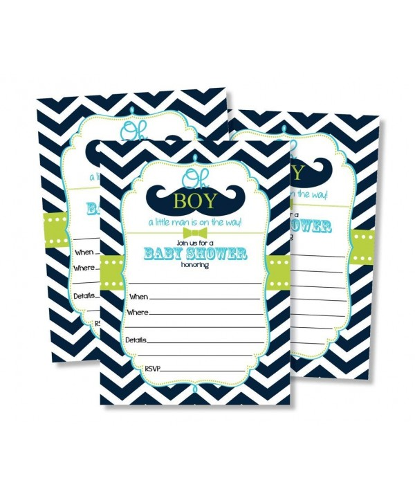Mustache Shower Invitations Envelopes Little