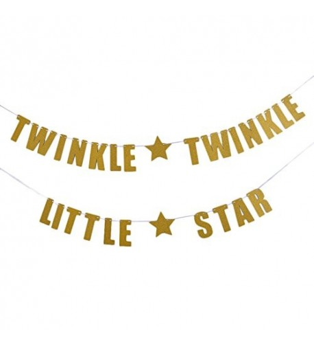 Tinksky TWINKLE LITTLE Birthday Decoration