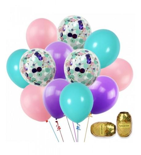 KUMEED Balloons Assorted Confetti Birthday